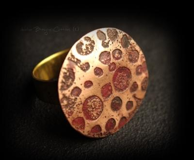 bague cuivre artisanale femme