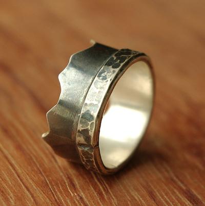 Bague,homme,anneau,argent,unique,createur